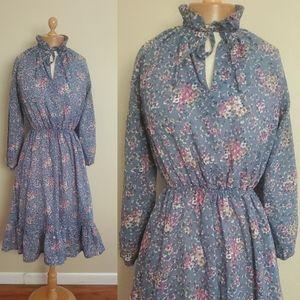 1970s vintage peasant dress size medium